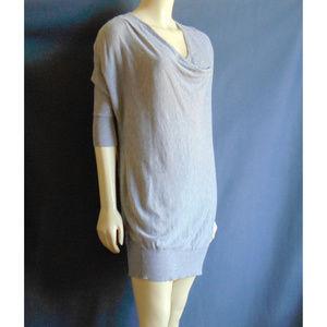 Vince Gray Thin Knit Cowl Neck Dress XS